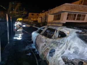 שריפה פרצה ברכב בטירת כרמל, לא היו נפגעים